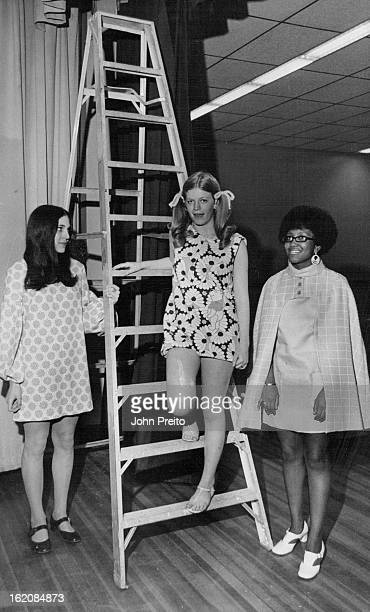 MAY 6 1970 MAY 13 1970 Gove Junior High School Fashions Made and Modeled by Students Grove Junior High Spring Fashion Show models from left are Julie...