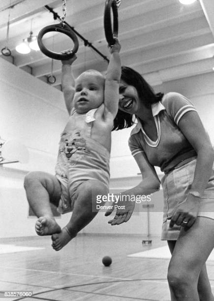 Gove Junior High School Swing time for Julie D'Orofio and Mom Doreen Julie is enrolled in TiniTots gymnastics Credit Denver Post