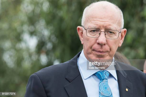 Govenor David Hurley attends the Wugulora Ceremony at Barangaroo on January 26 2018 in Sydney Australia Australia Day formerly known as Foundation...