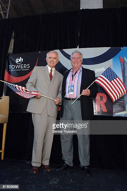 Govenor Jim Gibbons and President and CEO of Westgate David A Siegel attend Planet Hollywood Towers by Westgate topping off at Planet Hollywood...