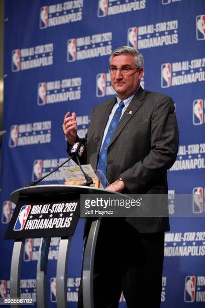 Govenor of Indiana Eric Holcomb during the press conference announcing Indianapolis to host NBA All-Star 202 on December 13, 2017 at Bankers Life...
