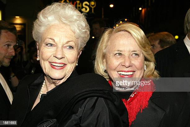 Governer Ann Richards and gossip columnist Liz Smith arrive at the opening night of Urban Cowboy on Broadway at the Broadhurst Theatre March 27 2003...