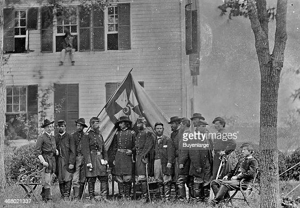 Governeur Kemble Warren center with his staff 1860s He was a civil engineer and prominent general in the Union Army during the American Civil War and...