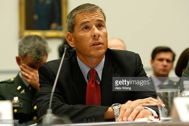 S Government Accountability Office Director on Education Workforce and Income Security Daniel Bertoni testifies during a hearing before the National...