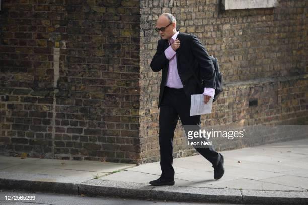 Government Advisor Dominic Cummings arrives in Downing Street on September 15 2020 in London England