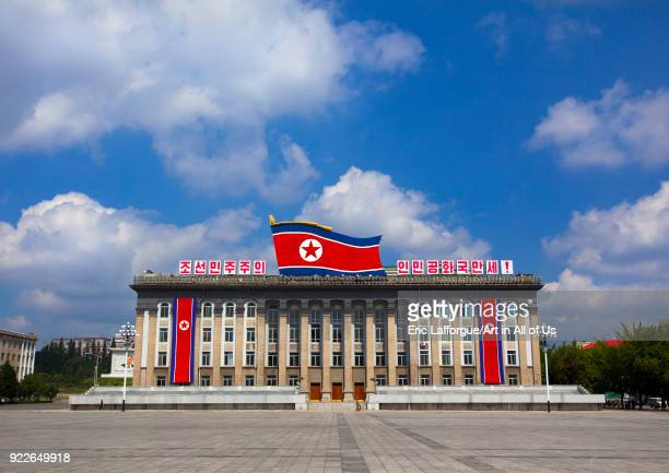 Government building in Kim Ilsung square Pyongan Province Pyongyang North Korea on September 9 2012 in Pyongyang North Korea