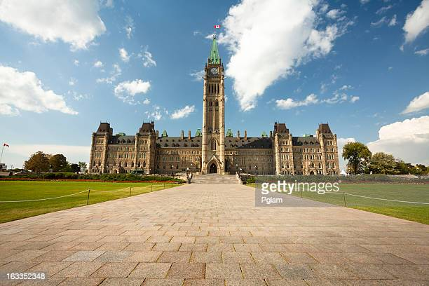 government building on parliament hill in ottawa - canadian culture stock pictures, royalty-free photos & images
