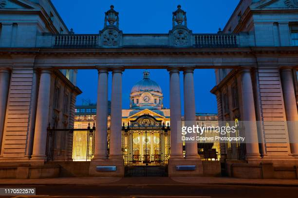 government buildings in dublin, ireland - dublin republic of ireland stock pictures, royalty-free photos & images