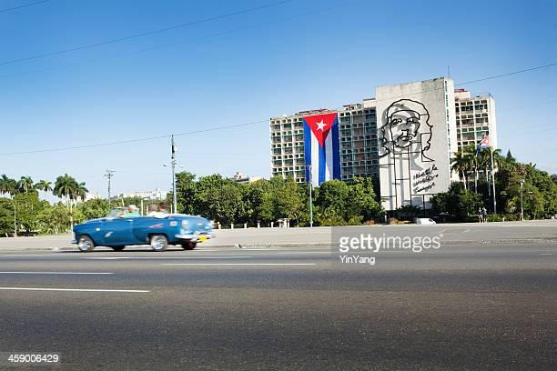 government buildings in plaza de la revolucion, havana, cuba - plaza de la revolución havana stock photos and pictures