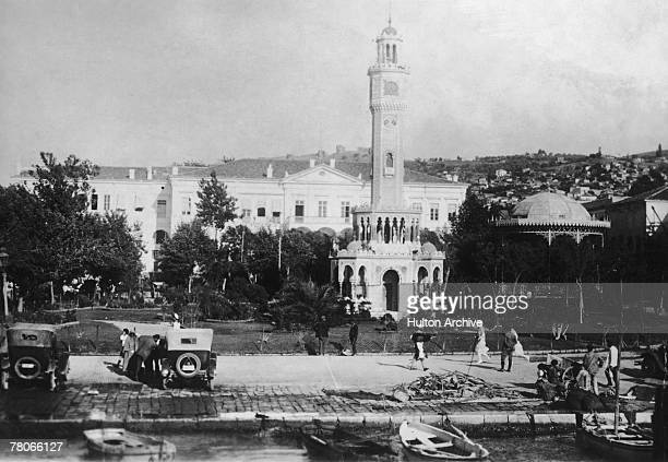 Government buildings in Smyrna in eastern Turkey circa 1920