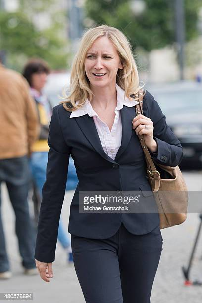 Government Counselor Eva Christiansen CDU arrives for CDU Party Board Meeting on July 13 2015 in Berlin Germany CDU foreign policy expert Philipp...