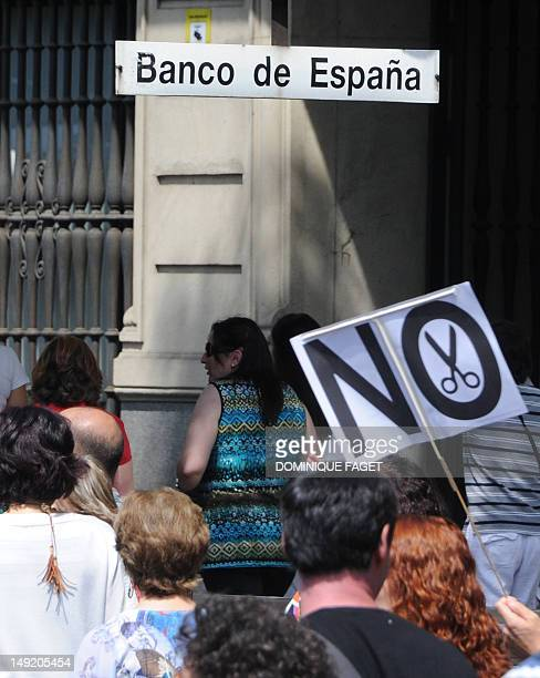 Government employees demonstrate against the Spanish government's latest austerity measures in the center of Madrid on July 25 after conservative...