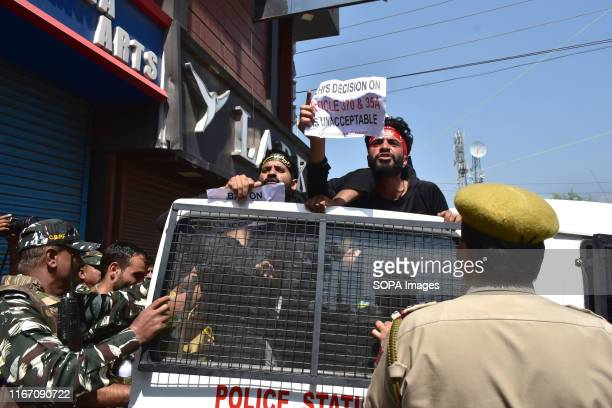 Government forces detain Kashmir Shiite mourners during the procession Authorities in parts of Srinagar imposed strict restrictions to prevent Shiite...