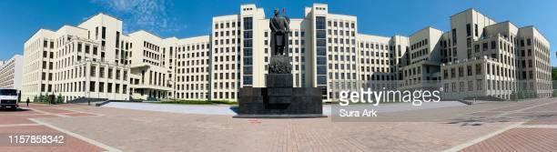 government house, independence square, minsk, belarus. - ミンスク ストックフォトと画像