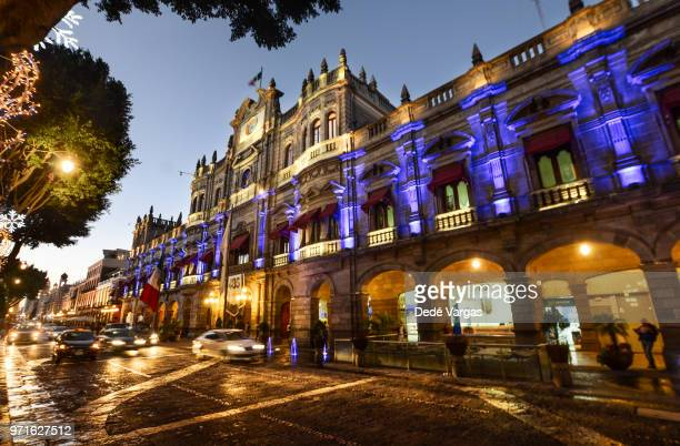 government house of the city of puebla - puebla state stock pictures, royalty-free photos & images