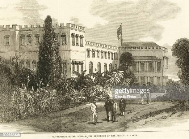 Government house, the residency of the prince of Wales, Bombay now Mumbai, Maharashtra, India