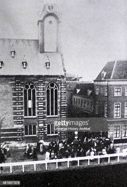Government intervention with education Students protest at the university of Leiden after the hearing of the protest professor Mr RP Cleveringa 1940