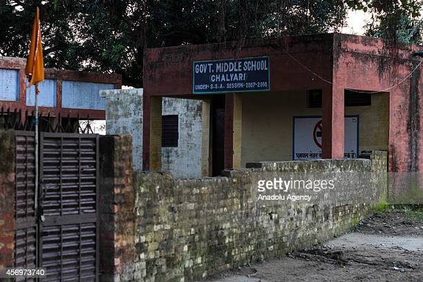Government Middle School is seen in Chalyari village of Jammu's Samba district on October 9 2014