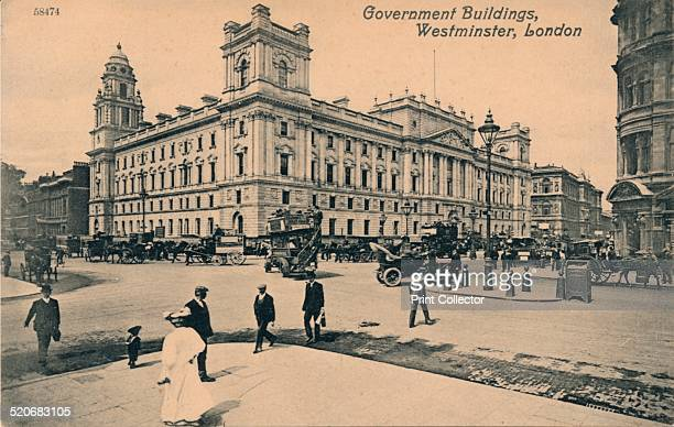 Government Offices Great George Street Westminster London' c1910 The building is occupied by HM Treasury and parts of the Cabinet Office Construction...
