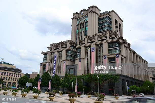 government official building in putrajaya, malaysia - putrajaya stock photos and pictures