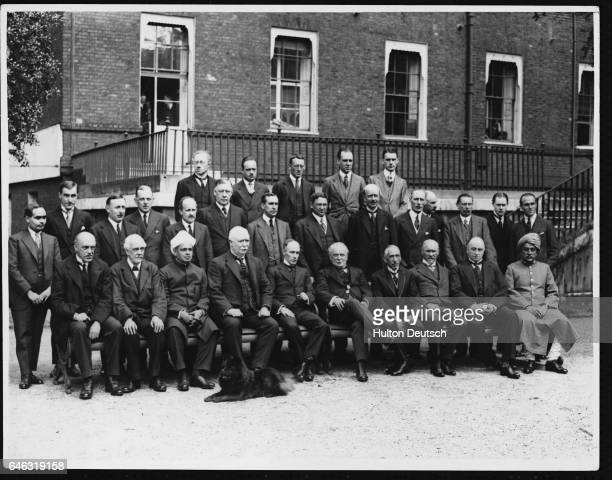 Government officials from countries within the British Empire gather at 10 Downing Street for the Empire Premiers' Conference