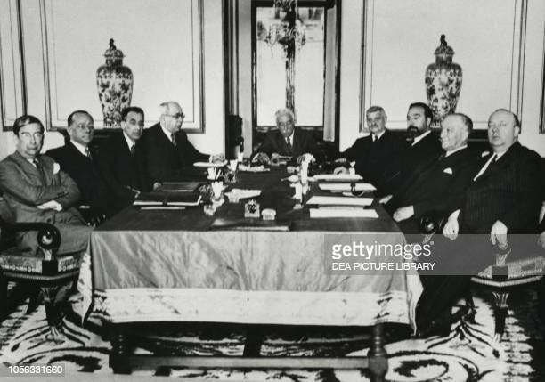 Government session presided over by Niceto AlcalaZamora y Torres Royal Palace of the Granja de San Ildefonso Spain 20th century
