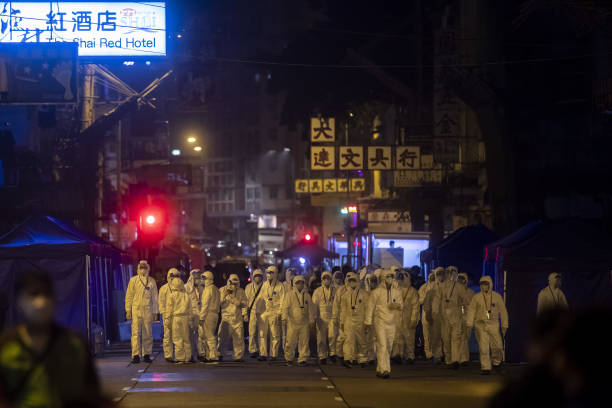 CHN: Hong Kong Imposes City's First Covid Lockdown in Parts of Kowloon
