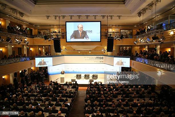 Governments' representatives attend Munich Security Conference at the Bayerischer Hof hotel in Munich Germany on February 12 2016