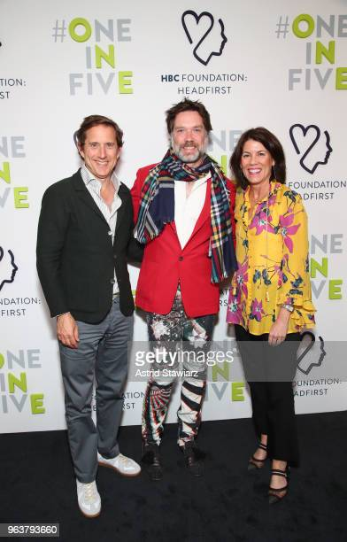 Governor and Executive Chairman Hudson's Bay Company Richard Baker Performer Rufus Wainwright and CEO HBC Helena Foulkes attend at HBC Foundation...