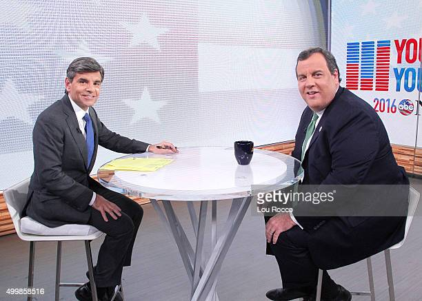 Governor and Republican Presidential Candidate Chris Christie is a guest on Good Morning America 12/2/15 airing on the ABC Television Network