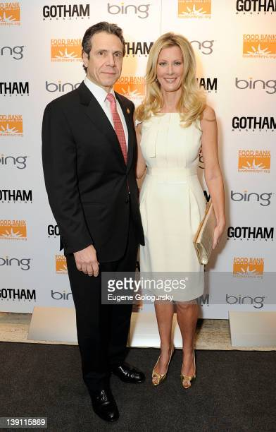 Governor Andrew Cuomo and Sandra Lee attend Niche Media Gotham Annual Soiree/Gala at Four Seasons Restaurant on February 16 2012 in New York City