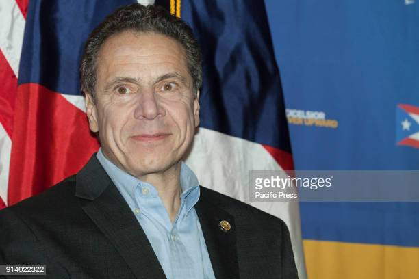 Governor Andrew Cuomo attends at New York stands with Puerto Rico rally at Casita Maria Center for Arts and Education in the Bronx