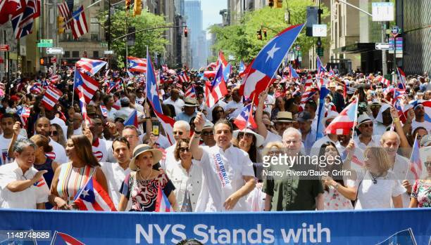 Governor Andrew Cuomo is seen at the 2019 Puerto Rican Day Parade on June 09 2019 in New York City