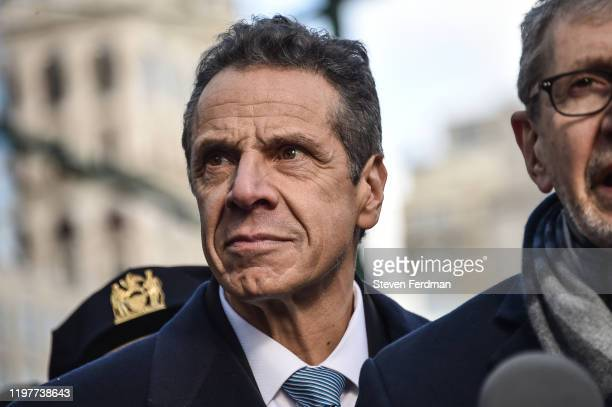 Governor Andrew Cuomo participates at the NYC Jewish Solidarity March on January 05, 2020 in New York City.