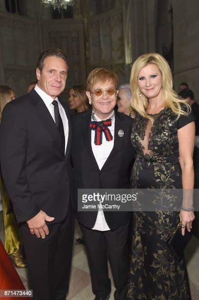 Governor Andrew Cuomo Sir Elton John and Sandra Lee attend the Elton John AIDS Foundation Commemorates Its 25th Year And Honors Founder Sir Elton...