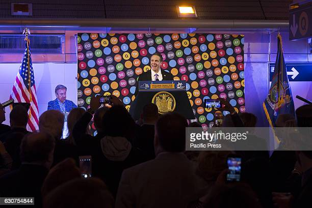 Governor Andrew Cuomo speaks during 2nd avenue subway celebration at 72nd street station in Manhattan