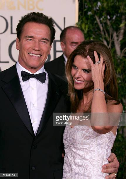 Governor Arnold Schwarzenegger and wife Maria Shriver arrive to the 62nd Annual Golden Globe Awards at the Beverly Hilton Hotel January 16, 2005 in...