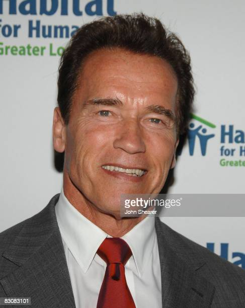 Governor Arnold Schwarzenegger arrives at 'Building A Greater Los Angeles' Gala to benefit Habitat for Humanity at the Beverly Hilton Hotel on...