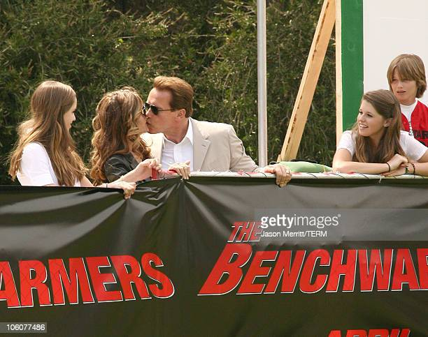 Governor Arnold Schwarzenegger, First Lady Maria Shriver. And children