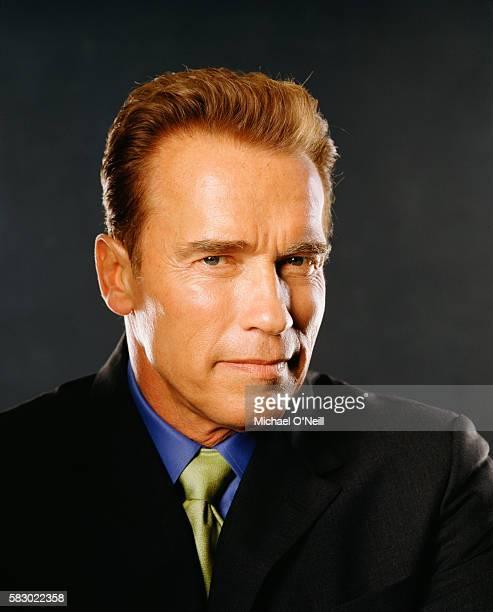 Governor Arnold Schwarzenegger poses for Fortune Magazine in Sacramento, California, on July 2, 2004.