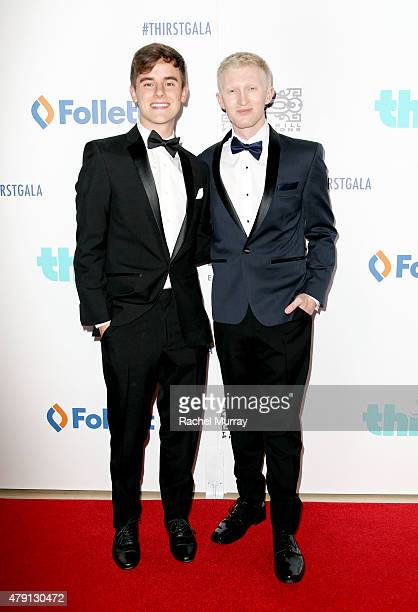 Governor Award recipient Connor Franta and Founder and CEO of Thirst Project Seth Maxwell attend the 6th Annual Thirst Gala at the Beverly Hilton...
