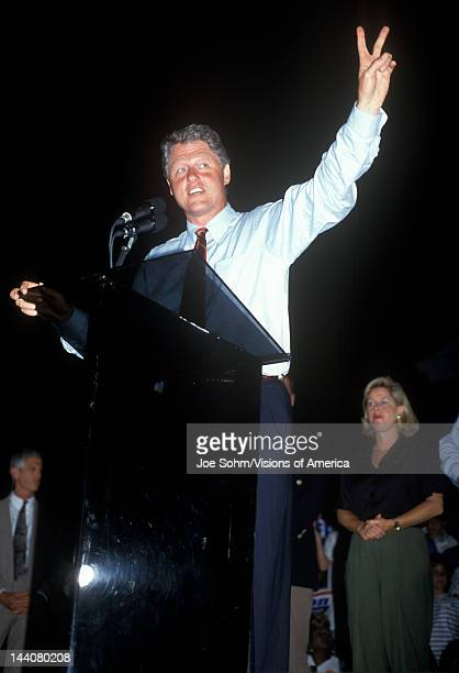 Governor Bill Clinton on the Clinton/Gore 1992 Buscapade campaign tour in Tyler Texas