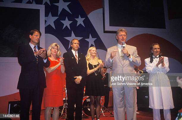 Governor Bill Clinton speaks at a reception at Little Rock State House Convention Center in 1992 Little Rock Arkansas