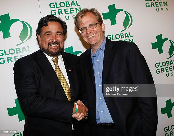 Governor Bill Richardson of New Mexico and Matt Petersen CEO Global Green arrives at Global Green USA's 5th Annual Awards Season Celebration at...
