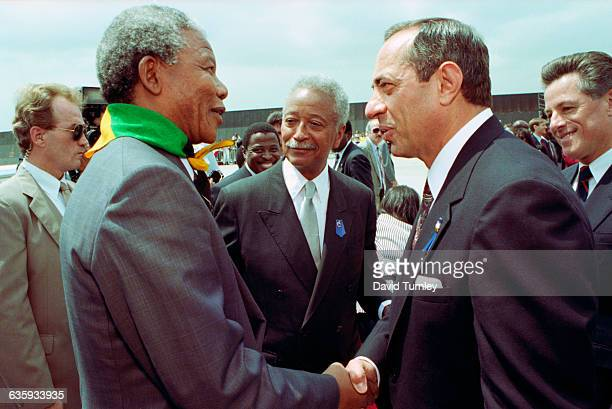 Governor Cuomo Shaking Hands with Mandela
