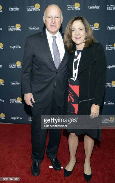 Governor Edmund G Brown Jr and First Lady Anne Gust Brown attend the 11th Annual California Hall ff Fame ceremony at The California Museum on...