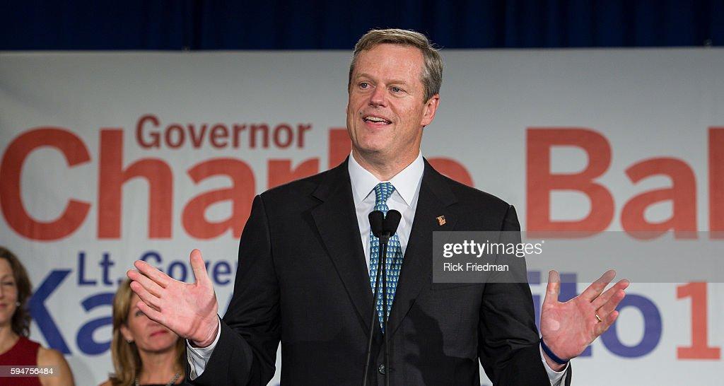 MA Governor elect Charlie Baker : News Photo
