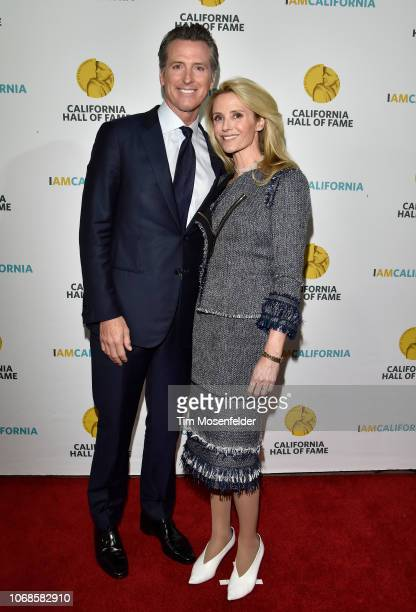 Governor elect Gavin Newsom and wife Jennifer Siebel Newsom attend the 12th Annual California Hall of Fame Ceremony at The California Museum on...