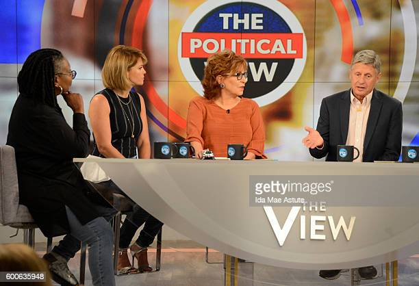 """Governor Gary Johnson visits """"THE VIEW,"""" 9/8/16 airing on the Walt Disney Television via Getty Images Television Network. WHOOPI GOLDBERG, CANDACE..."""