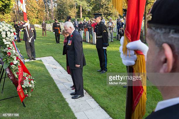 Governor General and Commander-in-Chief David Johnston of Canada and his spouse Sharon lay a wreath at the Canadian War Memorial on October 27, 2014...